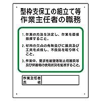 356-01A 作業主任者職務板 型枠支保工の組立て