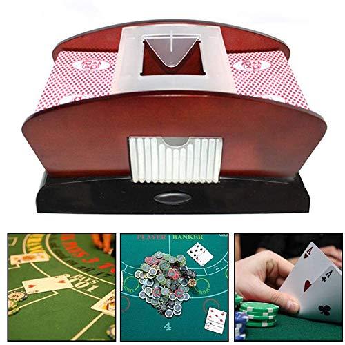 DSYYF Barajadora de Cartas automática Profesional, para máquina clasificadora de póquer de 2 mazos Barajadora de Cartas para Ahorrar Mano de Obra para Entretenimiento en el hogar