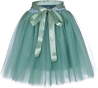 Lau's Faldas de Tul Mujer 7 Capas Faldas Fiesta por la Rodilla Falda Enagua Tutu Ballet para Bodas