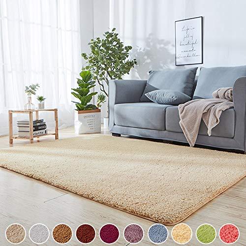 Schlafzimmer Teppiche Beige 120 x 160 cm Kinderteppiche Strapazierfähig 8 Stück Antirutschmatte für Teppich für Schlafzimmer, Esszimmer, Flur