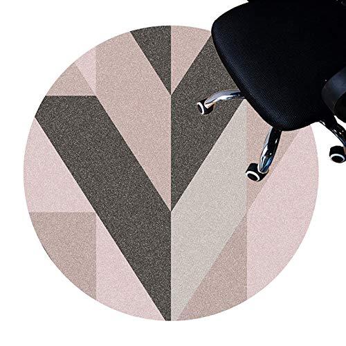 XIEBA Schreibtischstuhlmatten, Bodenschutzmatten Für Rollstuhl, Computer-Stuhlmatte Für Spiele, Runder Teppich Teppich(Size:120cm/47.2in,Color:EIN)