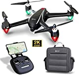Contixo F18 2K FPV RC Drone with Camera for Adults - Quadcopter with Brushless Motor - Beginners GPS Drone for Kids-5G WiFi- Follow Me - Auto Return - Point of Interest - Modular Battery with Backpack