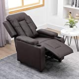 BELIFEGLORY Adjustable Living Room Recliner Chair PU Leather Upholstered...