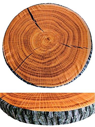 CASA ROAYALE Baum Stuhlauflage Sitzkissen Stuhlkissen Baumstamm Baumstumpf Ø40 cm