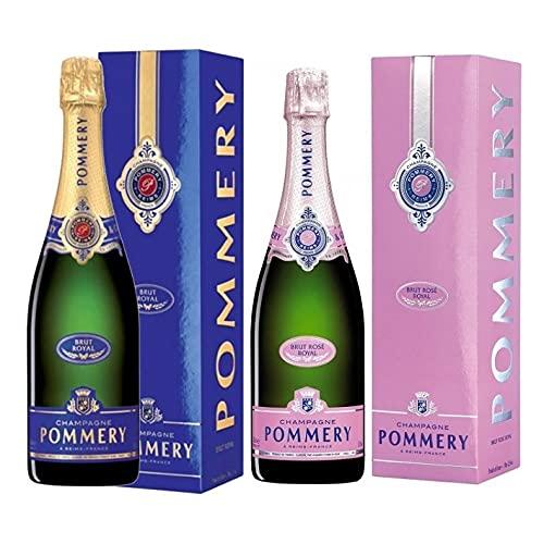 POMMERY Champagne Brut Royal und Brut Rose' Royal - 2x 750ml BOX - DE