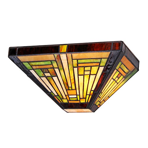 """Chloe Lighting CH33359MR12-WS1 Innes, Tiffany-Style 1 Light Mission Wall Sconce 12"""" Wide 1"""