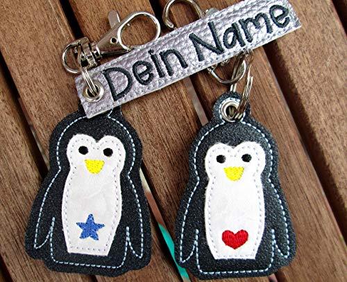 PINGUIN personalisierbar mit Namen Schlüsselanhänger Taschenanhänger tolles kleines Geschenk Ostergeschenk Muttertag