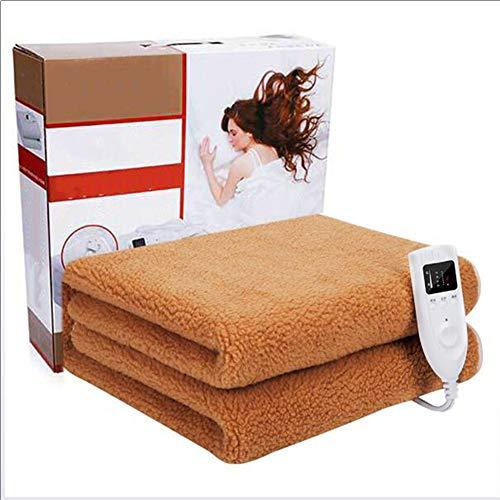 YMN Premium Comfortabel 1-persoons verwarmingsdeken, met de hand gewassen en afneembare controller, oververhittingsbeveiliging, voor thuis elektrisch verwarmd werpen