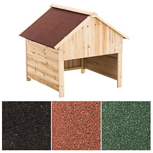 CLP Holzgarage für Rasenroboter | Unterstand für Rasenmähroboter mit UV-Strahlenschutz | Überdachung für Mähroboter aus Holz | Holzhaus für Rasenroboter erhältlich Rot