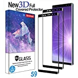 Galaxy S9 Screen Protector,(2-Pack) Tempered Glass Screen Protector [Force Resistant up to 11 pounds] [Full Screen Coverage] [Case Friendly] for Samsung S9(5.8')