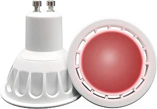 VARICART GU10 LED COB Bombilla Color Rojo, 6W MR16 60° Ángulo Haz, 50W Halógeno Equiv. 500lm, Luz Especial Ambiental Decorativa Iluminación Fiesta (Pack de 4)