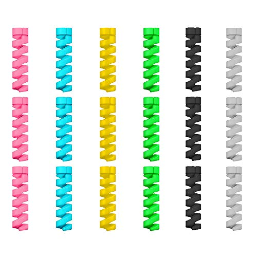 12 Unidades Protector de Cable Espiral - para Cables Lightning iPhone y...