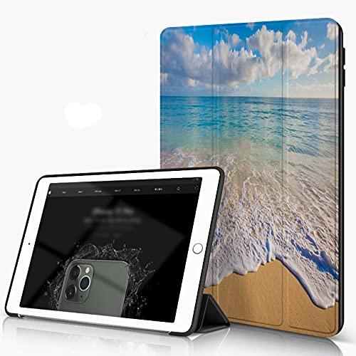 She Charm Carcasa para iPad 10.2 Inch, iPad Air 7.ª Generación,Hermoso Paisaje Marino Desde Hawai,Incluye Soporte magnético y Funda para Dormir/Despertar