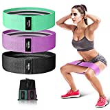 OMERIL Resistance Bands Set, 3 Packs Fabric Workout Bands with 3 Resistance Levels, Non-Slip Exercise Bands Elastic Resistance Loops Bands with Carrying Bag for Legs, Butt, Hips and Glutes
