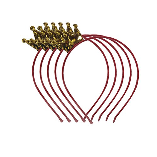 TOYMYTOY 5 stücke Mädchen Krone Haarband Prinzessin Mädchen Fischschuppen Stirnband Kinder Party Dress-up Headwear (Gold)