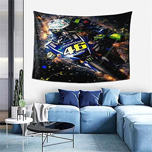 Valentino Rossi Tapiz para colgar en la pared, decoración de pared, apartamento, hogar, dormitorio, decoración de pared para sala de estar, dormitorio