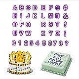 Iaywayii 40pcs Alphabete Letters Fondant-Plätzchen-Form Cutter Anzahl Character Kuchen verziert Set DIY Kunststoff Symbol Backen Zucker Mold
