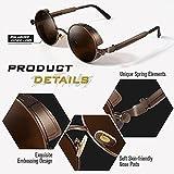 Zoom IMG-2 gqueen occhiali da sole rotondi