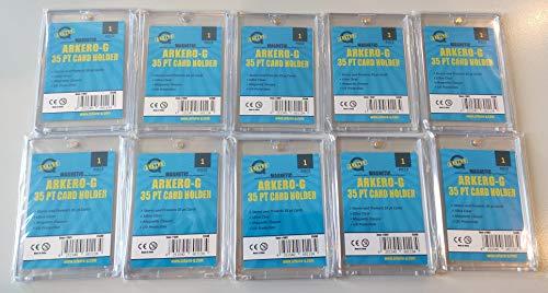 Arkero-G® 10 Stück 35pt Magnetic Card Holder Schutzhüllen / Kartenhalter für Standard & Small Sammel-Karten z.B. Pokemon, MTG Magic, Yugioh