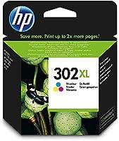 HP 302XL cartouche d'encre Trois Couleurs (Cyan, Magenta, Jaune) grande capacité Authentique (F6U67AE) pour imprimantes...