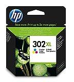 HP 302XL Cartouche d'Encre Trois Couleurs (cyan, magenta, jaune) grande capacité Authentique (F6U67AE)