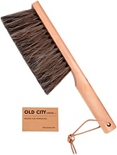 Dustpan Brush-Bench Brushes are Used as a Counter, Hand, Woodworking, Gardening, Furniture, Drafting, Fireplace Cleaning -Large 13 Inches Shop Brush-USA-Horsehair - Beech Wood, Leather Tie