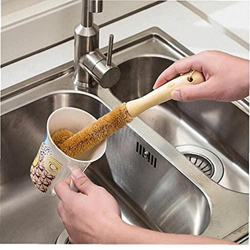 Onsinic Botella Medioambiental Cepillo De Limpieza para Vidrio De Leche/Uso De La Familia De Cristal Esponja Copa Cepillo Cepillo De Limpieza