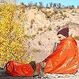 Crsary Emergency Sleeping Bag, Survival Sleeping Bag PE Tear-Resistant Material, Lightweight Waterproof Thermal Bag Emergency Blanket Bushcraft for Outdoor Camping and Hiking