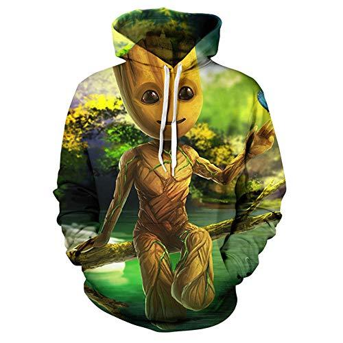 XXzcdsaa Sudadera con Capucha para Hombre con Estampado 3D Groot Movie Guardians of The Galaxy Boy Fashion Chaqueta Deportiva De Manga Larga-870_M