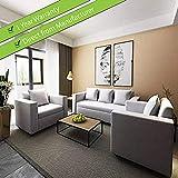 CasaStyle - Lexas Fabric 5 Seater Sofa Set 3+1+1 (Light Grey), modern Sofa Sets & Designer Furniture I 32 Density Soft & Comfortable | 3 Yr. Assurance