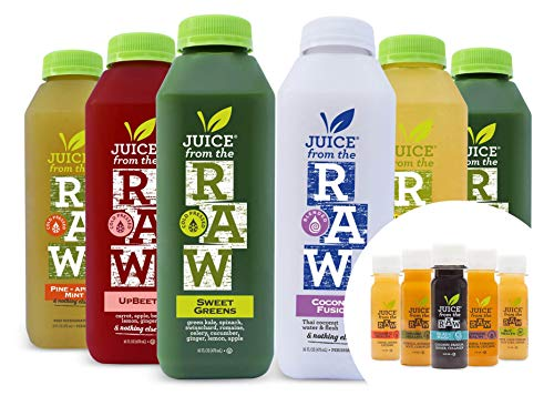 3-Day Juice Cleanse with Coconut Fusion + Shots by Juice From the RAW - Most Popular Cleanse to Lose Weight Quickly / Detoxify Your Body / 100% Raw Cold-Pressed Juices (18 Bottles + 9 Shots)