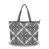 DXG1 - Bolso de la compra portátil de poliéster con cierre de cremallera para mujer Blanco blanco L ( 45 x 13 x 33 ) cm