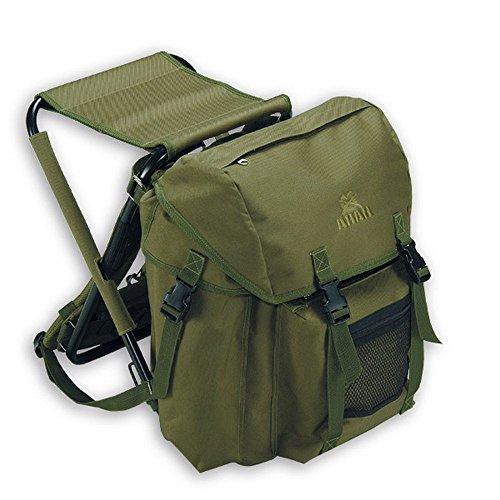 Akah Rucksack mit integriertem Stuhl für Treibjagd, Angeln, Wandern, Outdoor