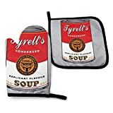 Cooking Gloves And Potholders,Blade Runner Campbell Soup Warhol Oven Mitts Set,Funny Printing Cooking Mitts Sets For Family Parents Grandparents