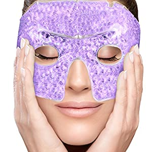 ESSENTIAL PAIN RELIEF TREATMENT: The ultimate dark circles and bags reducer! Luxury you can wrap around your head. Covers your eyes and provides instant restoration for acute and chronic ailments. Soft touch, over the face eye cover is included for o...