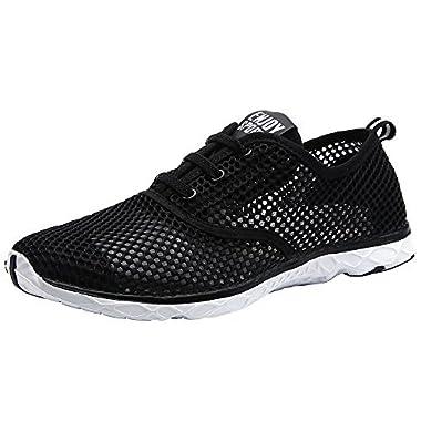 ALEADER Women's Quick Drying Aqua Water Shoes Black 7 D(M) US/FR 37