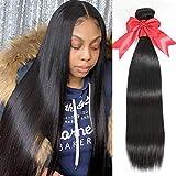 10A Brazilian Straight Hair Bundles 20 Inch Human Hair Bundles 100g 1 single Bundle Straight Hair Extensions Weave Hair Human Bundles 100% Unprocessed Virgin Brazilian Hair