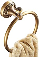 Pepte Toilet Ronde Handdoek Ring Hanger, Messing, One Size
