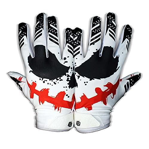 Eternity Gears - Jester Football Gloves - Tacky Grip Skin Tight Adult Football Gloves - Enhanced Performance Football Gloves Men - Pro Elite Super Sticky Receiver Football Gloves - Adult Sizes (Large)