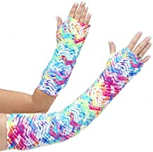 CastCoverz! Designer Arm Cast Cover - Neon Tracks - Medium Short: 11