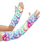 CastCoverz! Designer Arm Cast Cover - Neon Tracks - Small Short: 7' Length X 7' Circumference - Removable and Washable - Made in USA