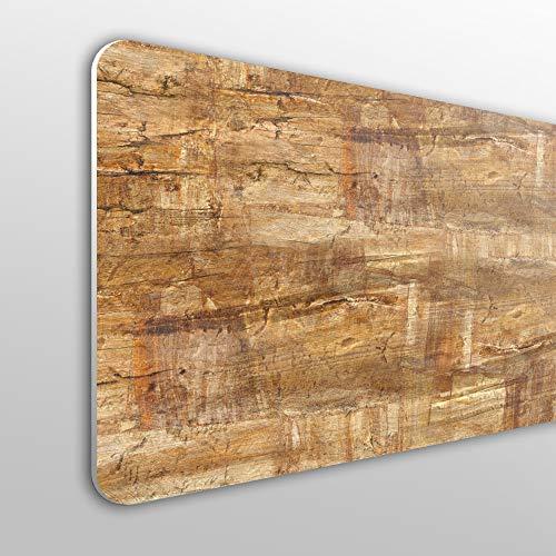 Megadecor - Kopfteil für Bett, PVC, 10 mm, dekorativ, in verschiedenen Größen mit natürlichem Holzanstrich-Effekt