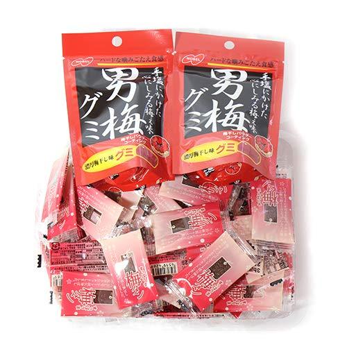 ノーベル製菓 男梅グミ(2コ)& 一榮食品 梅タン(60コ)セット