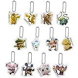 Bandai Pokemon Detective Pikachu Set 12 Porte-clés Collection 5cm Bulbaur Arcanine Psyduck Jigglypuff