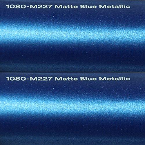 3M 24,99€/m² Autofolie Scotchprint Wrap Film 1080 Matte Blue metallic gegossene Matt Profi Folie 152cm breit BLASENFREI mit Luftkanäle