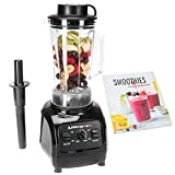 Ultratec Power Mixer con 6 Lame in Acciaio, 2 L, senza BPA, 1.500 Watt, Incluso Pressino & Ricettario per Smoothie