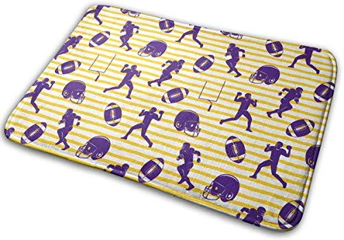 BLSYP Felpudo Rugby On Golden Stripes Doormat Anti-Slip