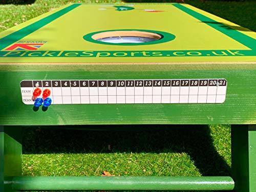 Pickle Sports Garden Games Scoring Board | Original Score Tracker | Works with Cornhole Bean Bag Toss Ladder Golf Games