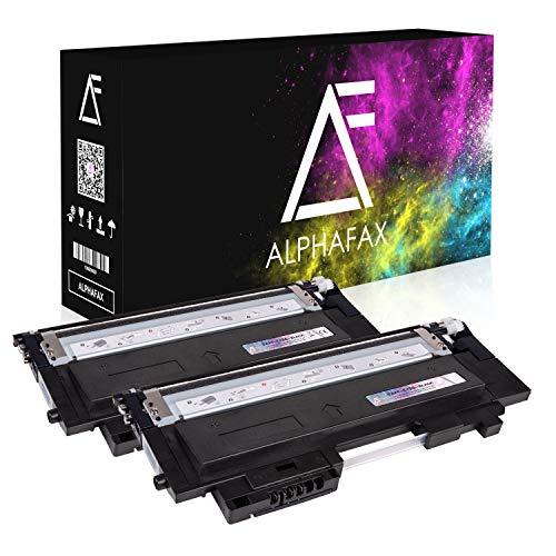 2X Alphafax Toner ersetzt Samsung CLT-P404C CLT-K404S Doppelpack Schwarz