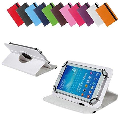 BRALEXX Universal 360° Tablet Tasche passend für i-onik TM3 Serie 1 7 Zoll, 7 Zoll, Weiß
